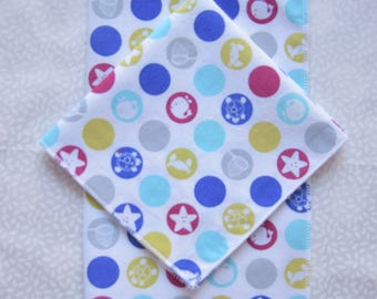 set of 2 nautical theme kids handkerchiefs