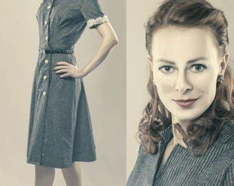 1940s dress after original cut
