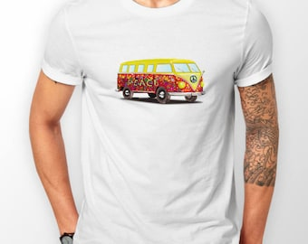 VW Inspired Peace Camper T Shirt