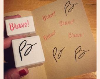 Étampes B et Bravo pour professeur
