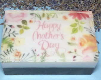 Handmade organic soap, graphic soap,picture soap,happy Mother's Day gift,mother's Day soap
