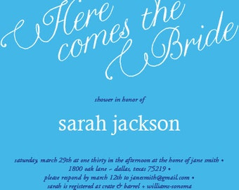Whimsical Bridal Shower Invitation