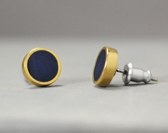 Lapis Lazuli Earrings, Gold And Navy Earrings, Metaphysical Jewelry, Crystal Jewelry, Lapis Lazuli Jewelry, Chakra Earrings, Reiki Jewelry