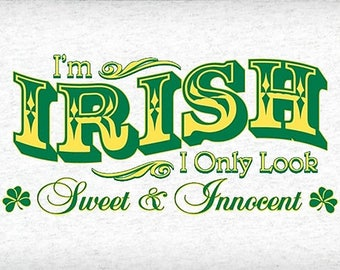 I'm Irish counted cross stitch pattern, 14 ct. Aida, Instant Download