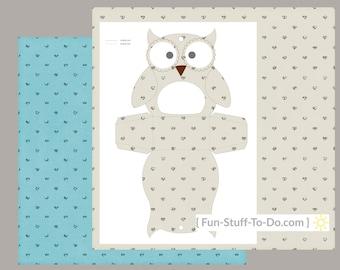 Owl Box - Digital Transparent Overlay Template Set