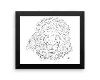 Majestic Lion Framed poster