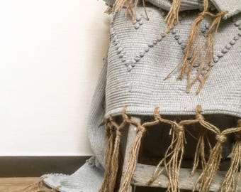 Rug 100% recycled cotton and linen fringes