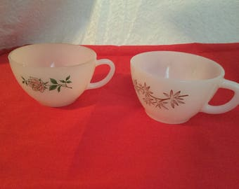 Vintage fire king  coffee  cups,