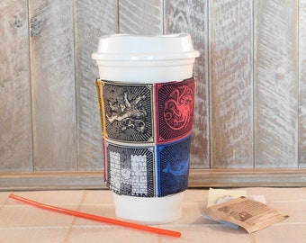 Coffee Cozy Made With Game Of Thrones Inspired Fabric