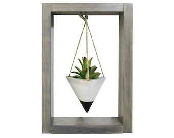 Wall Planter, Mini Planter, Succulent Planter, Air Planter, Concrete Planter, White Planter, Modern Planter, Air Plant Holder, Shadow Box