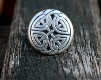 Tie Tack - Lapel Pin - Silver Celtic Eternal Knot