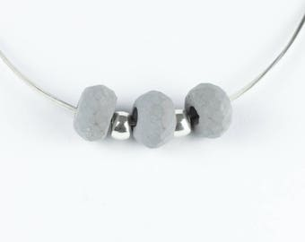 Concrete jewelry, Facetierte pearl made of concrete with necklace, necklace, handmade jewellery, gift for women