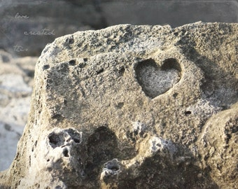 Heart Carved in Natural Stone | Nature Photography | Cueva del Indio | Love Quote Photography | Inspirational Quote | Photography Art Print