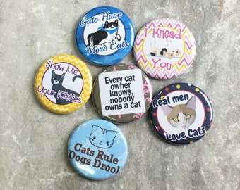 Funny Cat Magnets   Funny Cat Sayings   Set Of 6   Refrigerator Magnets    Office