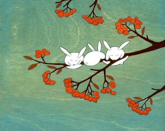 "Signed Large 10""x10"" Art Print - Rowan Tree"