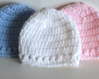 Preemie Baby Hat, micropreemie,preemie,preemie baby hats,preemie hats,baby hats, preemies, preemie gifts, baby gifts,pink & blue baby hat