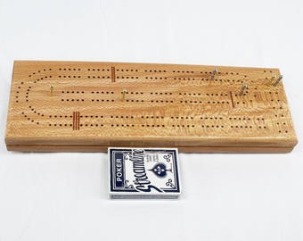 Quarter Sawn Sycamore 2 Player Cribbage Board