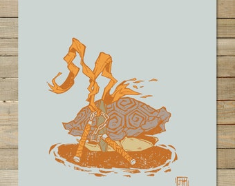 Mike TMNT | tortues ninja | 9 x 12 en art imprimé |
