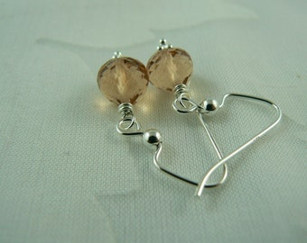 Imperial Topaz Quartz Earrings