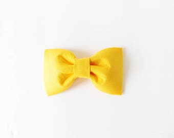 Yellow Dog Cat Collar Flower Bow Tie