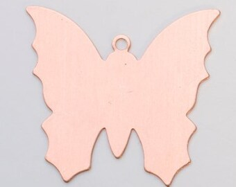 SIX Butterflies BUTTERFLY Quantity 6 Copper shapes for enameling