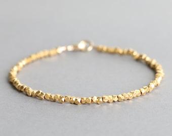 Simple Gold Bracelet Karen Hill Gold Vermeil Style Bracelet Stacking Bracelet Minimal Bracelet