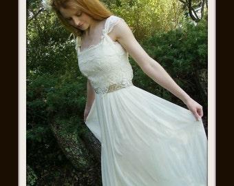 Boho Wedding Dress  'MUSETTA'