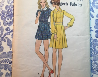 Butterick 6611 COMPLETE vintage sewing pattern for Misses Dress Size 10 Bust 32.5