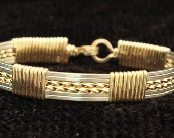 Wire Wrapped Unisex Bangle Bracelet
