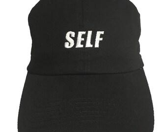 SELF (Polo Style Ball Cap - Black)