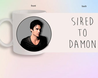 Sired To Damon Salvatore The Vampire Diaries Originals Portrait Front And Back Gift Mug