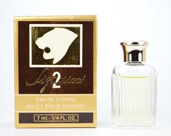 Signoricci 2 Eau de Toilette Ricci pour Homme 7 ml 1/4 FL OZ Made in France gents