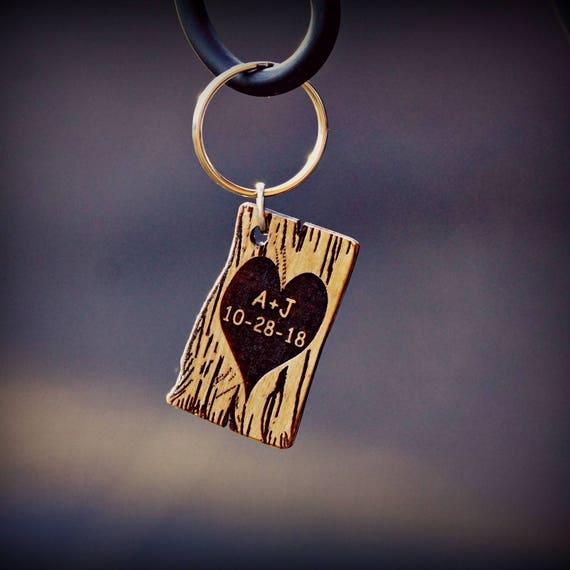 Wooden Key Chain, Unique Key Chain, Valentine's Key Chain,  Men's  Key Chain,  Women's Key  Chain