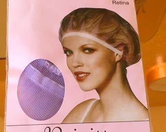 Vintage Solida Brigitte dressing cap perlon tulle hair net burlesque reenactment