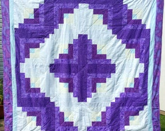 Purple-White and Teal Quilt