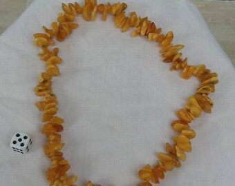 Large stringed butter scotch /egg yolk Amber neclace