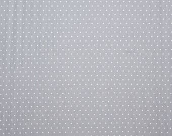 Spotted pure cotton sheer fabric - made in the UK - 175cm    69 inches wide - large spots