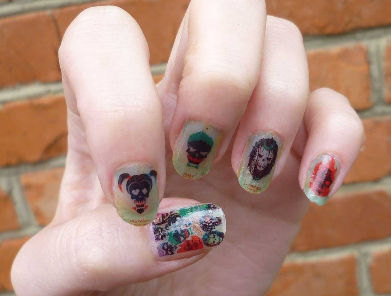 Suicide Squad Full Cover Nail Wraps Nail Decals Nail