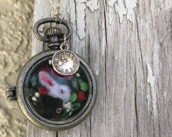 Wonderland White Rabbit Necklace