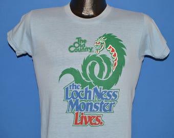 80s Loch Ness Monster Lives Busch Gardens t-shirt Small