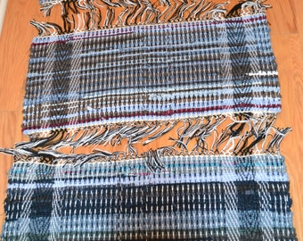 """Amish Handmade Scatter Accent Rag Rug 12"""" x 26"""""""