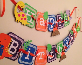 Dinosaur birthday banner, dinosaur party, dino decorations!