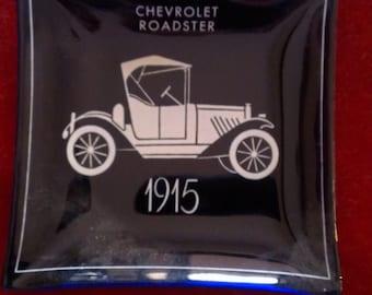 Chevrolet 1915 Roadster blue cobalt square ashtray