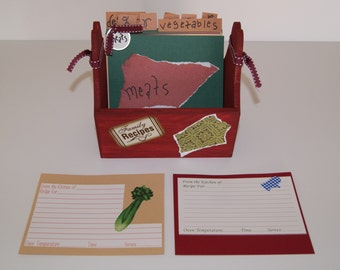 Recipe Cards with Box