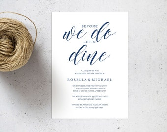 Gold rehearsal dinner invitation template rehearsal navy blue rehearsal dinner invitation template rehearsal printable invitation templates wedding rehearsal instant download wpc130 stopboris Choice Image