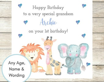 1st birthday card etsy 1st birthday card personalised birthday card nephew birthday card son birthday card bookmarktalkfo Image collections