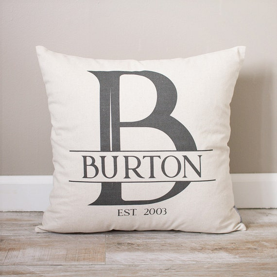 Personalized Pillows For Wedding Gift: Personalized Monogram Pillow Wedding Gift For Couples