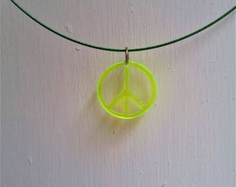 UV Peace Necklace <3