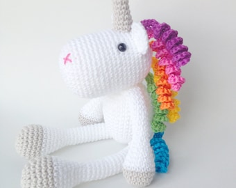Unicorn Plush, Unicorn Stuffed Animal, Unicorn Plushie, Unicorn Stuffed Toy, Crochet Unicorn, Unicorn Soft Toy