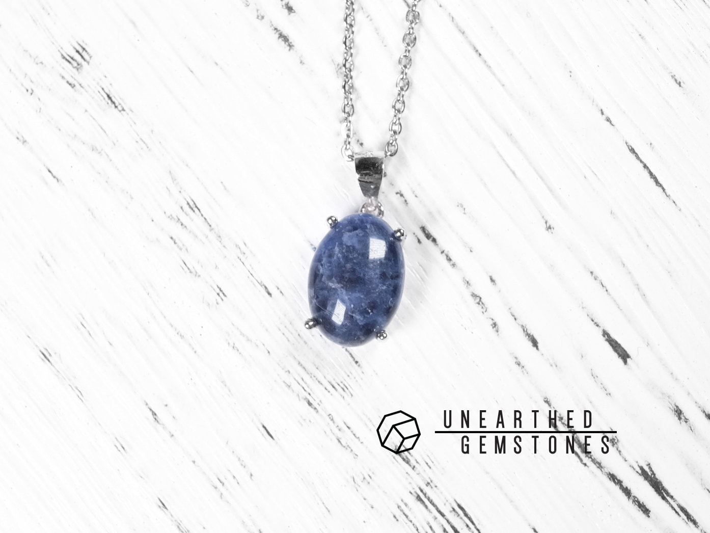 sodalite jewelry is gemstone necklace blue cuboid image itm long loading s
